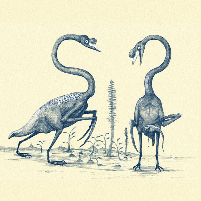 Scythe-Armed, Featherless Swans