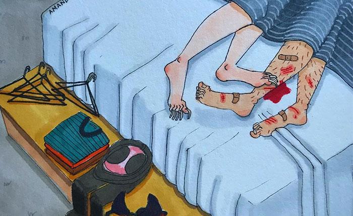 El lado tácito de las relaciones largas en 25+ ilustraciones brutalmente honestas