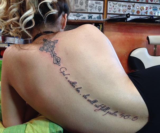 Spine Tattoo Design Bored Panda
