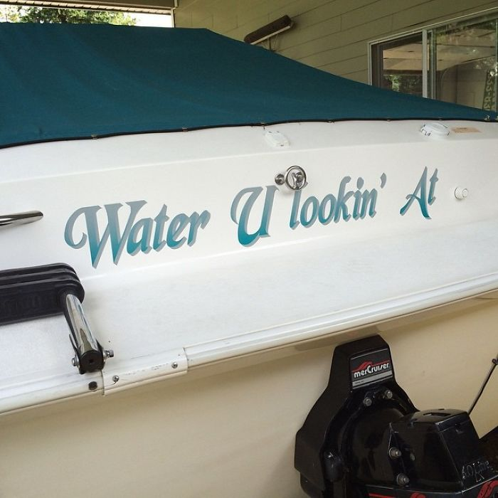 Took A Few Years, But The Boat Finally Has A Name