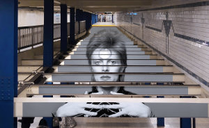 David Bowie Takes Over Manhattan Subway Station