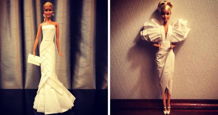 Man Uses Toilet Paper And Tissues To Create Wedding Dresses For His