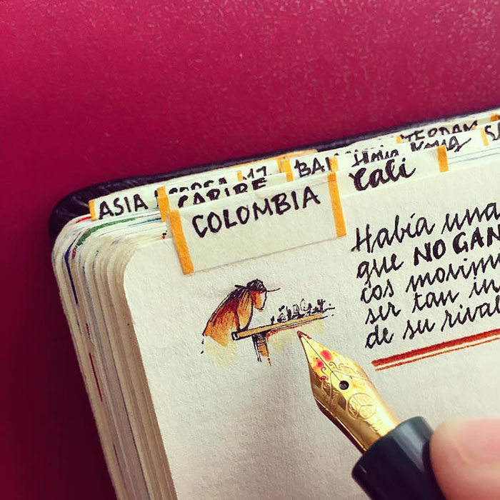 This Man Quit His Aeronautical Job To Travel The World And Here Is How His Notebooks Look Like