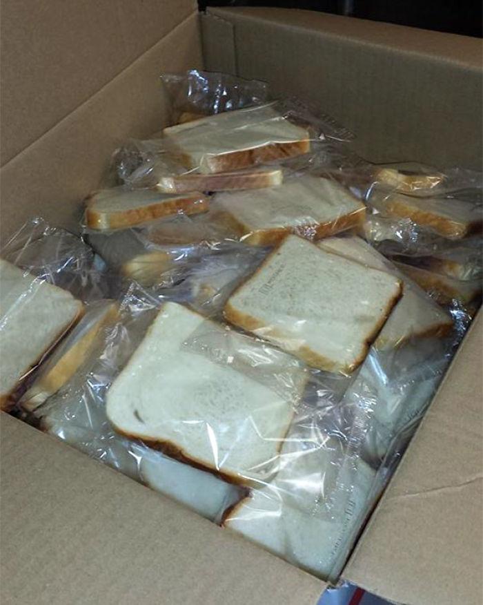 Rebanadas de pan con envoltorio individual