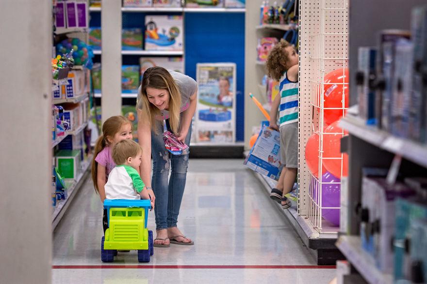 Motherhood Is Never Shopping Alone