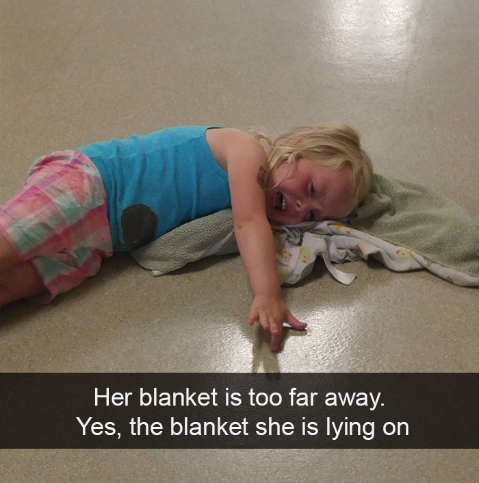 Her Blanket Is Too Far Away. Yes, The Blanket She Is Lying On