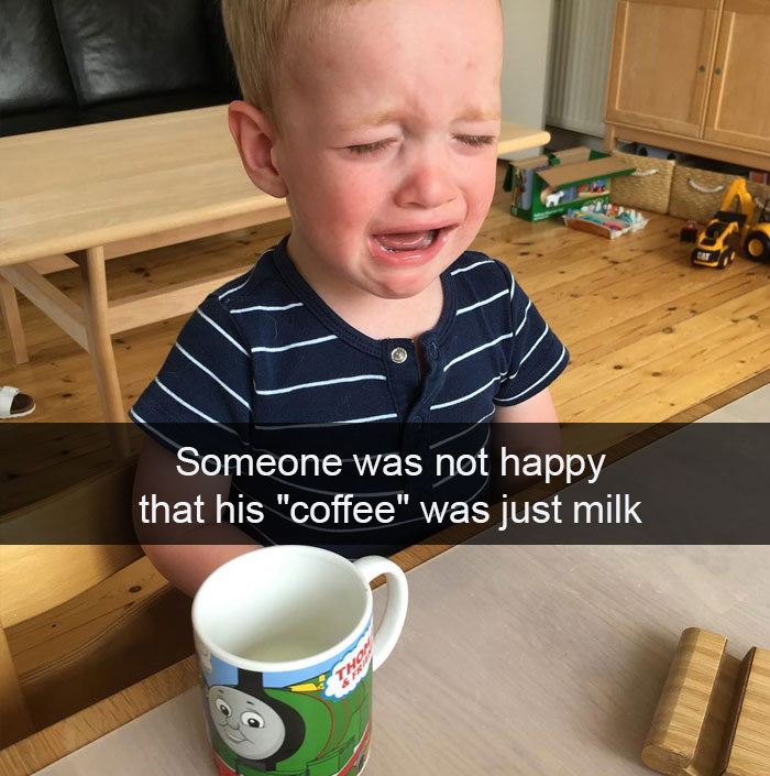 """Someone Was Not Happy That His """"Coffee"""" Was Just Milk"""