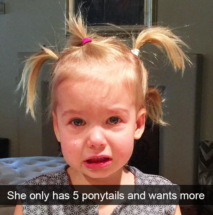 She Only Has 5 Ponytails And Wants More