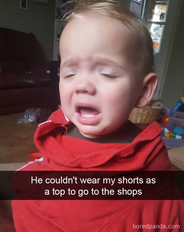 He Couldn't Wear My Shorts As A Top To Go To The Shops
