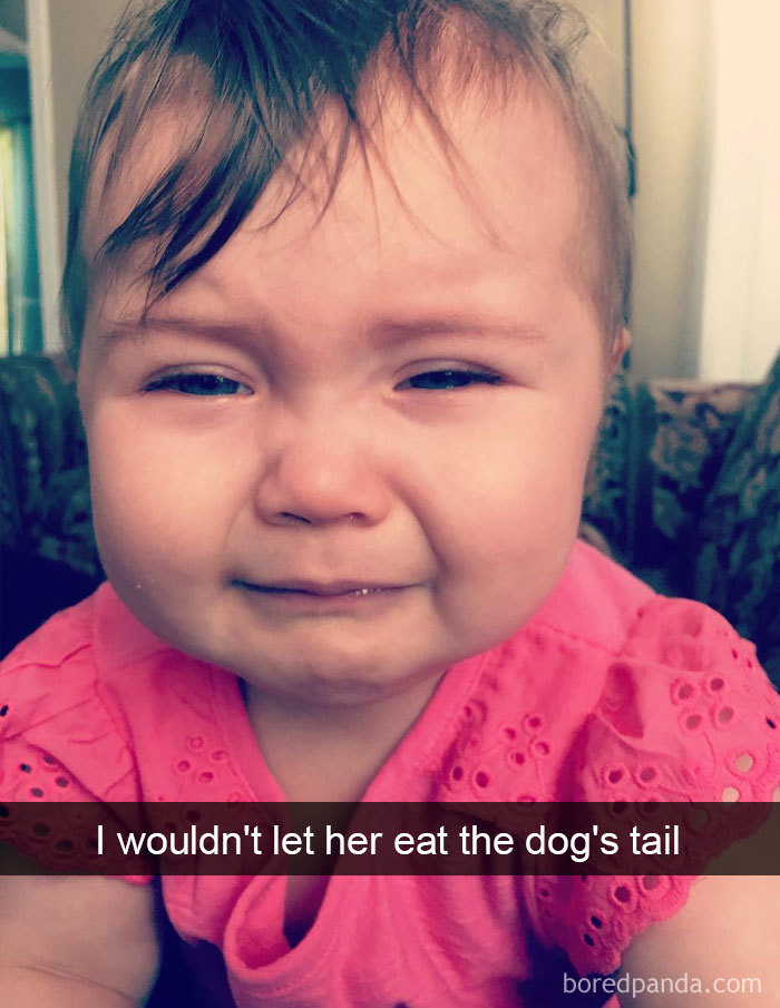 I Wouldn't Let Her Eat The Dog's Tail