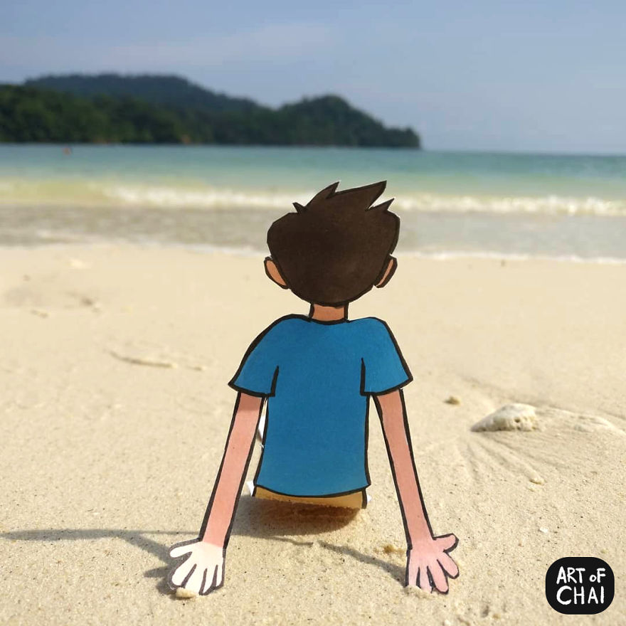 Chai Loves Chilling On Beaches Listening To The Waves Come By And The Breeze Blow The Hair