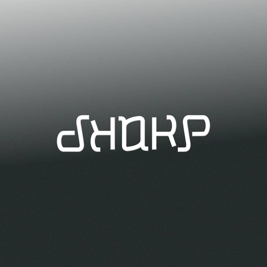 I've Turned Some Big Brand Names Into Ambigrams. Upside Down, Round And Round!