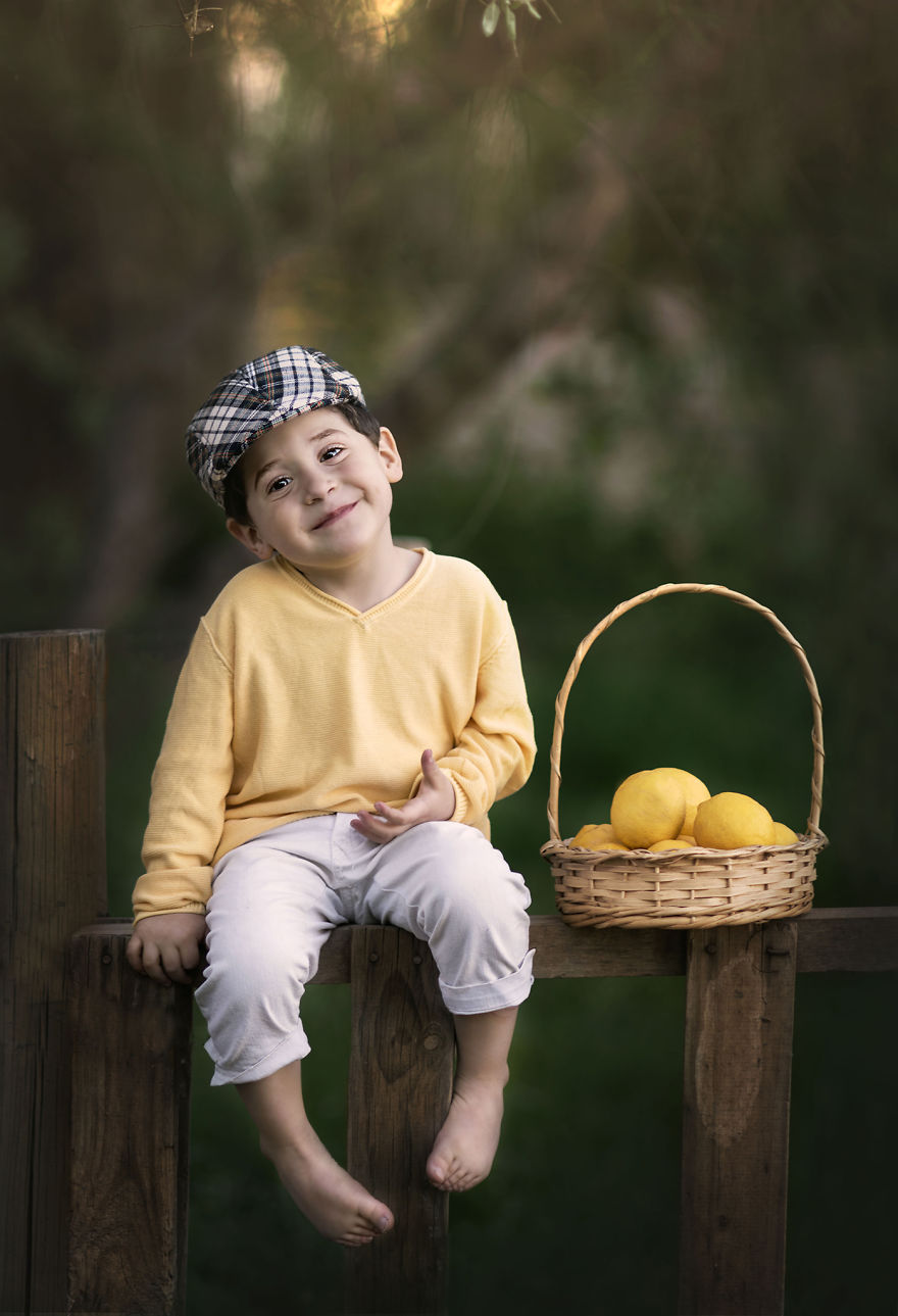 I Decided To Take Pictures Of Children With Fruits To Connect Them With Nature