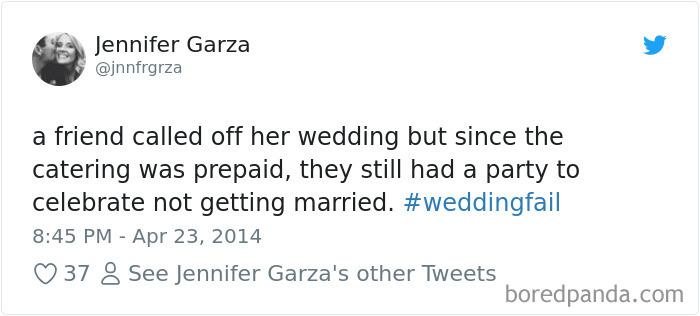 Wedding Fail Tweets
