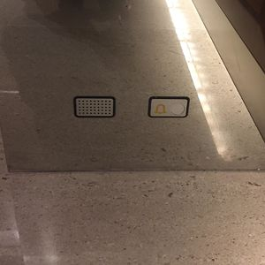 This Elevator With An Additional Alarm Button Near The Ground In Case You Can't Get Up