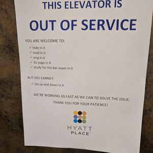 This Elevator Is Out Of Service