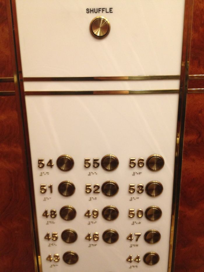 This Elevator Has A Shuffle Button
