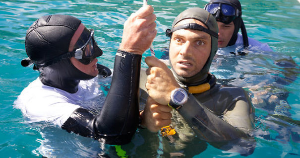 Nicholas Mevoli After His Last 'Free Dive'. He Was Attempting To Dive 236ft Deep. He Completed The Dive, Surfaced, Gave The Ok Sign, Tried To Speak, And Then Passed Out. He Never Regained Consciousness And Died That Same Day From Pulmonary Edema