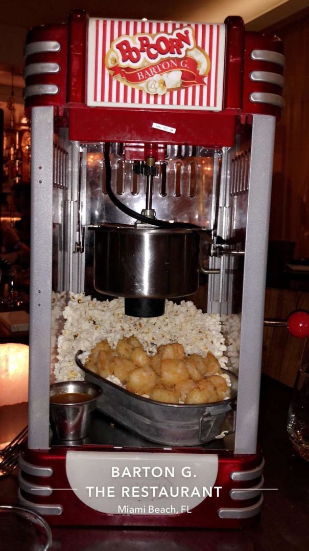 Dear God Why Would You Bring An Entire Popcorn Machine To A Table