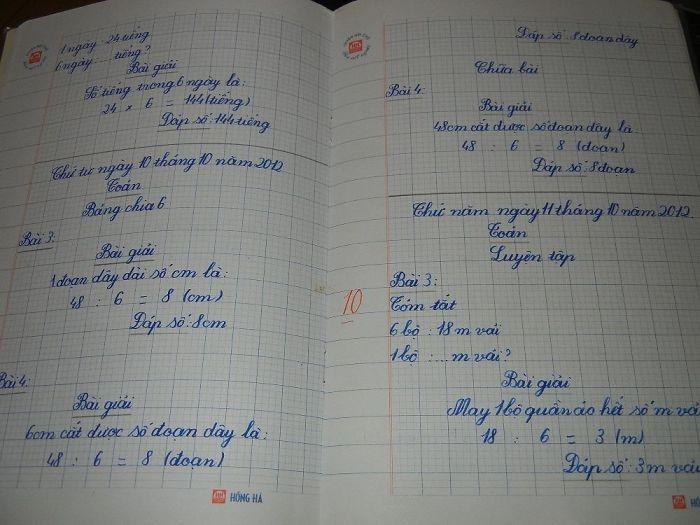 Los deberes de una niña viernamita de 8 años