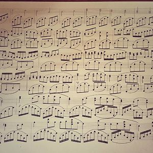 I Write Sheet Music By Hand Using Charcoal - This Is My Latest: Canon In D By Pachelbel