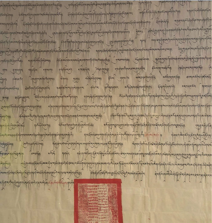 I Work For The University Of Oxford, And This Hangs In My Office. One Of The Last Pieces Of Legislation The Present Dalai Lama Passed Before Fleeing Tibet