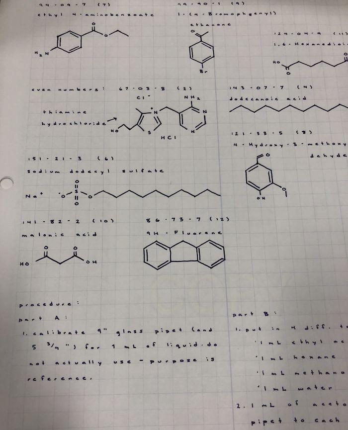 Some Orgo Lab Notes