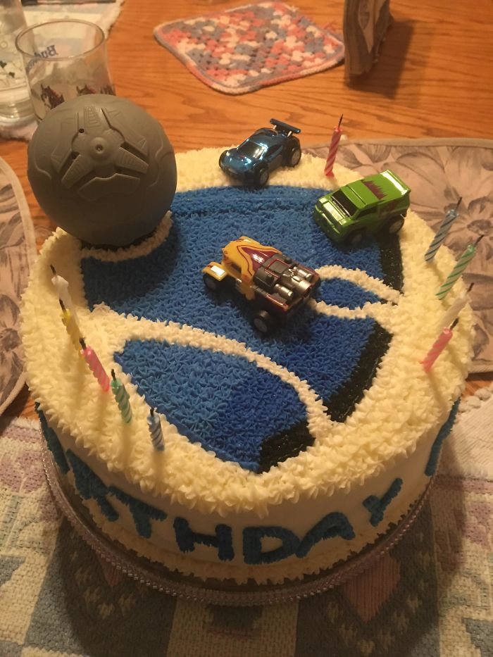 It Was My 24th Yesterday And My Mom Made Me This Cake In Celebration