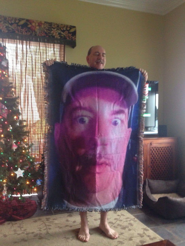 """I Have Seen A Lot Of Blankets On Reddit Today So Here Is My Dad's Gift To My Younger Sister. He Calls It The """"Birth Control Blanket"""""""