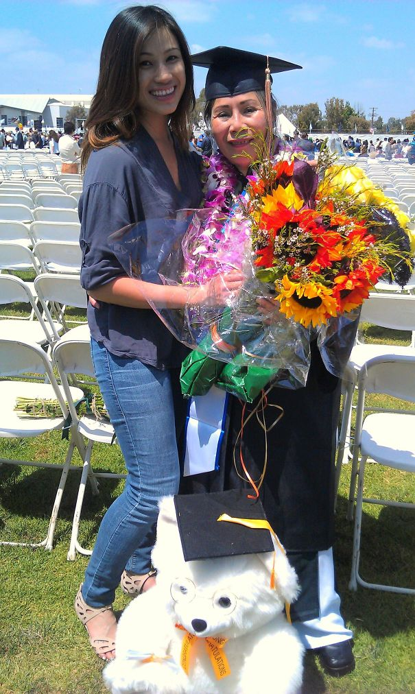 Today, My 62-Year-Old Immigrant Grandmother Graduated With A Bachelor's In Accounting & Finance Today From CSUF