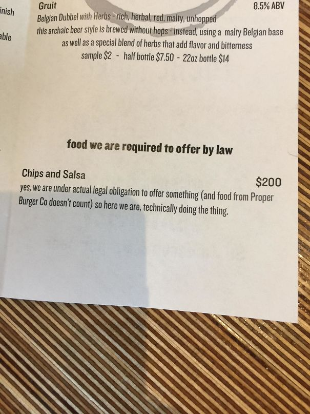 This Utah Bar Is Legally Required To Offer Food To Customers