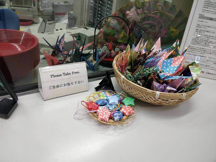 En el aeropuerto de Tokyo te dan origamis gratis