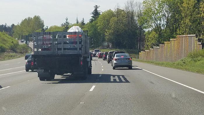 This Trucks Shadow Says