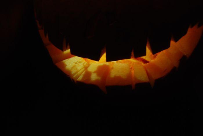Freddy Krueger's Shadow Appeared In Our Jack-O'-Lantern