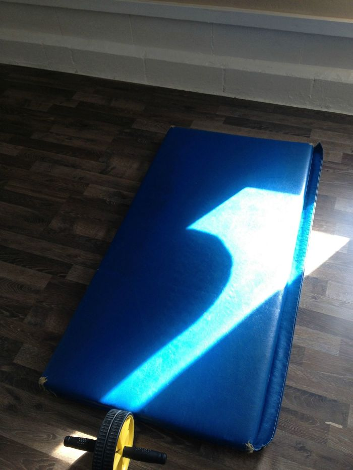 The Shadow Of The Heavy Bag At My Gym Looked A Lot Like