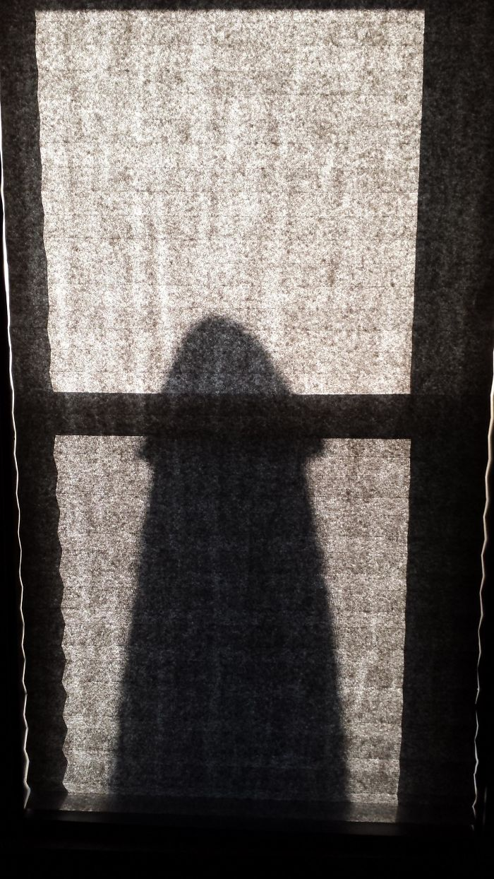 At About 7:30pm Each Day The Shadow Of My Patio Umbrella Looks Like A Big D**k In The Window
