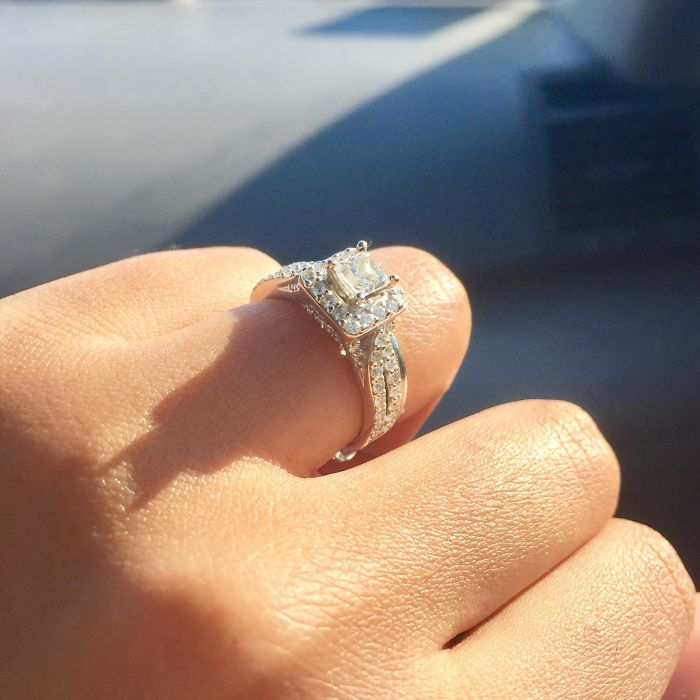 The Shadow Cast By My Engagement Ring Looks Like Batman