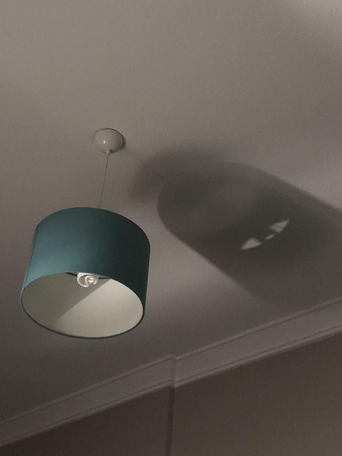 Shadow Of My Lamp Looks Like Monsters Inc. Logo