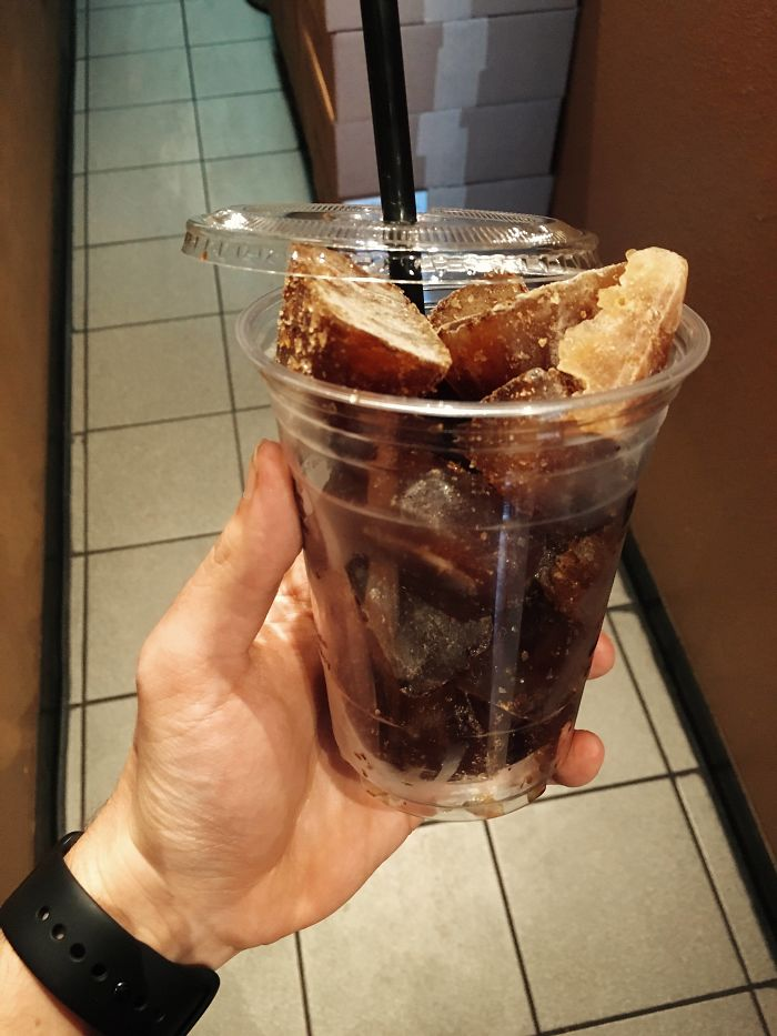 Our Local Coffee Shop Uses Frozen Coffee Cubes For Iced Coffee