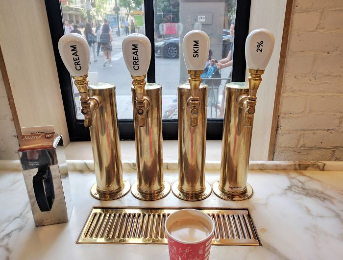 This Coffee Shop Uses Beer Taps To Dispense Cream And Milk
