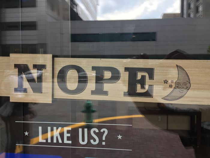 This Use Of The N In An Open Sign At A Café