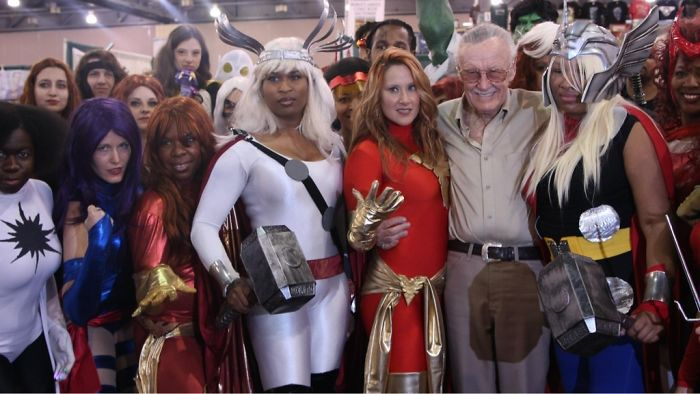 That Awkward Moment When The Shadow Of Thor's Hammer Makes It Look Like Stan Lee Peed His Pants