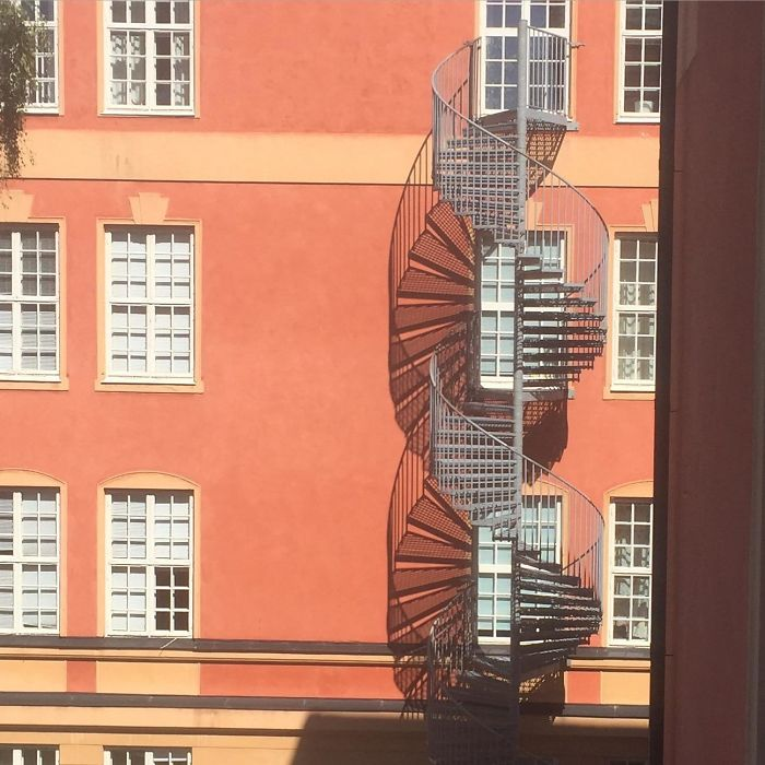 Our Fire Escape Casts A Pretty Shadow