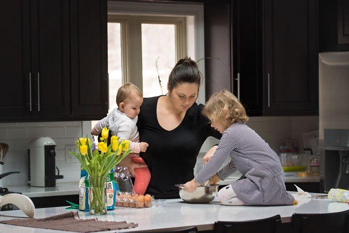 Motherhood Is Having Little Helpers To Help You Cook