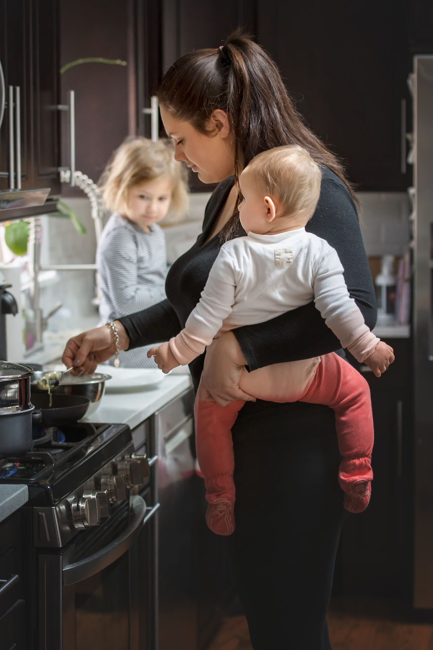 Motherhood Is Cooking With One Hand