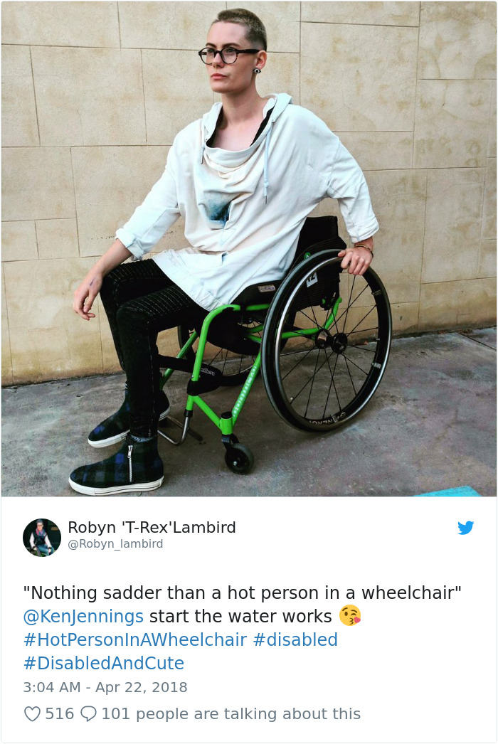Hot Person On A Wheelchair