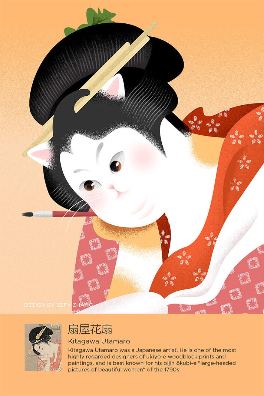 Paint Kitagawa Utamaro