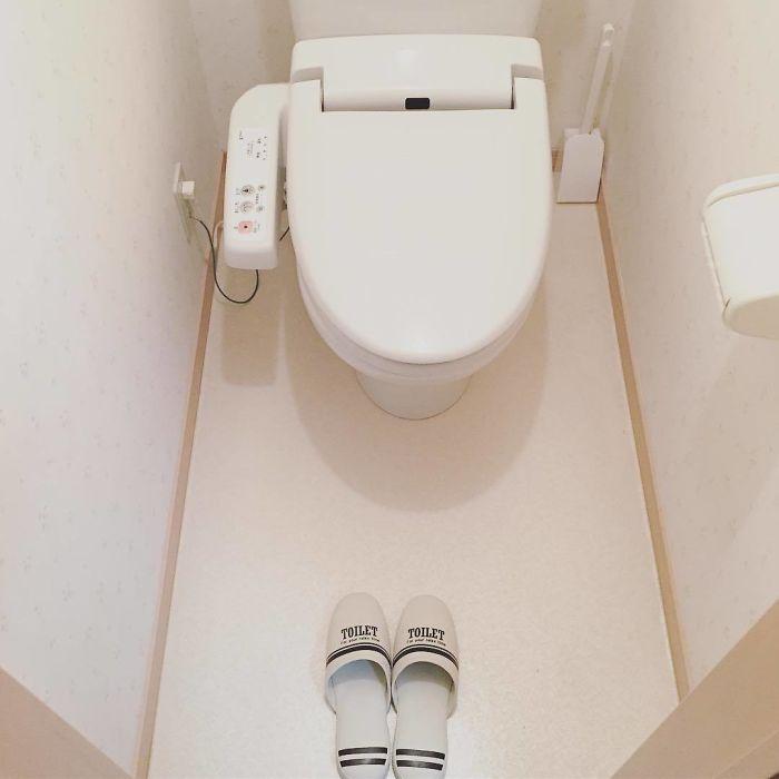 No solo tienes que quitarte los zapatos a la entrada y ponerte zapatillas, también hay que usar unas distintas si vas al baño