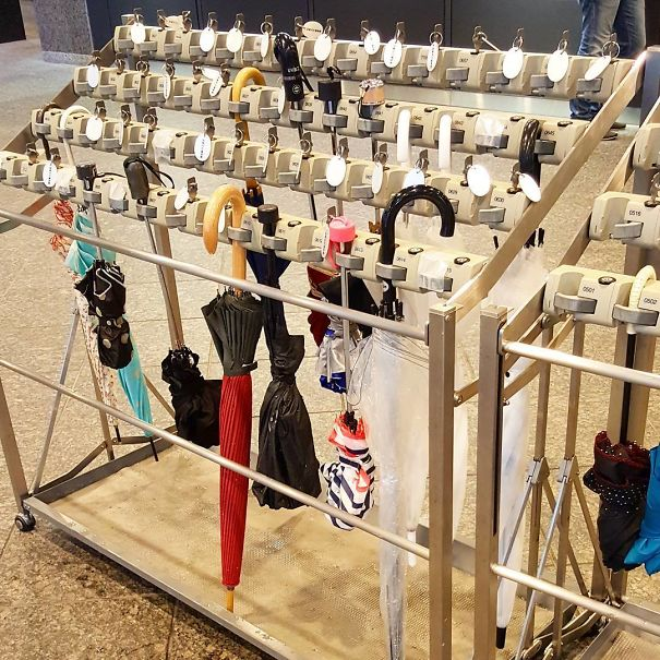 Another                                                          Great Japanese                                                          Invention:                                                          Umbrella                                                          Lockers. So                                                          You Don't Have                                                          To Carry Them                                                          Around Inside                                                          A Building And                                                          Nobody Takes                                                          Yours                                                          'Accidentally'