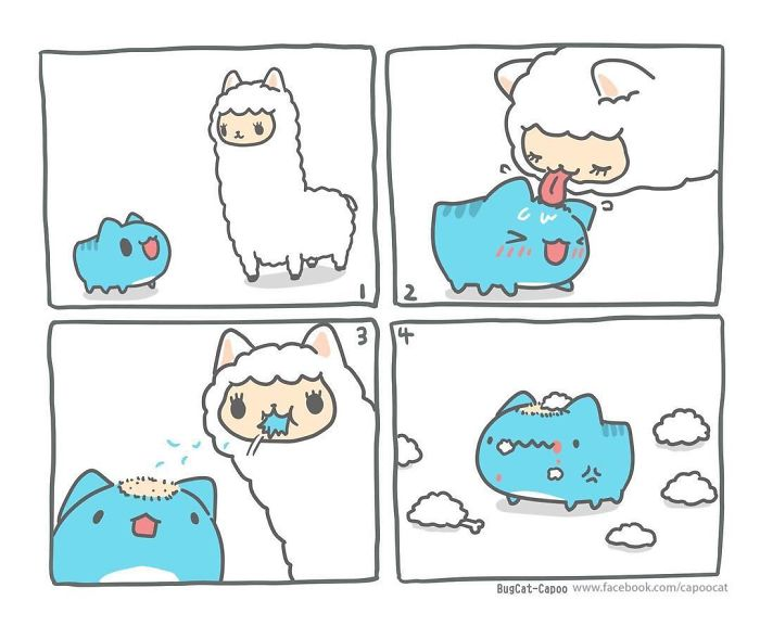 this adorable comic about a cat bug has a dark twist that you